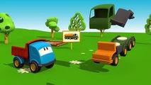 Meraklı kamyon Leo ve itfaiye arabası - eğitici çizgi film - türkçe