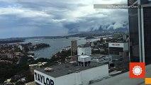 Shelf Cloud Sweeps Toward Sydney, Australia