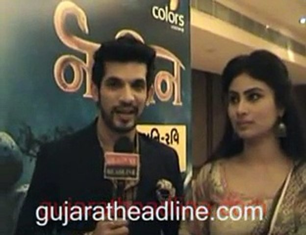 Naagin TV serial's stars Arjun Bijlani and Mouni Roy visits Ahmedabad