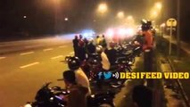 CAUGHT ON CAMERA : Bike Stunts Accidents in Hyderabad | 4 Banglore Bikers Died on Airport Road