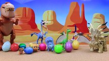 The Good Dinosaur Forrest Woodbrush Surprise Egg Party with Arlo and Butch Giving Dinosaur