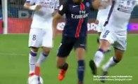 Lucas Moura Fantastic Skills before Zlatan Ibrahimovic Goal - Paris Saint Germain v. Toulouse 07.11.205 hD
