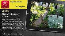 A vendre - Maison bourgeoise - Pont A Mousson (54700) - 10 pièces - 224m²