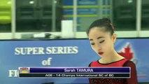 Sarah Tamura - Junior Women Short - 2016 Skate Canada BC/YK Sectional Championships
