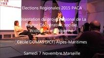 Cecile-DUMAS  / Elections régionales  PACA/Meeting / 1er décembre 2015 / Marseille