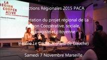 Helene-LECACHEUX  / Elections régionales  PACA/Meeting / 1er décembre 2015 / Marseille