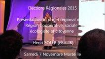Henri-SOLER / Elections régionales  PACA/Meeting / 1er décembre 2015 / Marseille