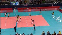 Amazing rally of volleyball