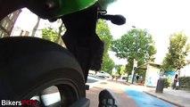 rear view footage from Kawasaki Ninja 250R riding through London