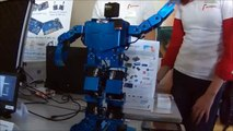 Android Arduino powered blue Robot amazing dancing esame2015 Campus SophiaTech