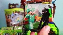 Minecraft Play Doh Surprise Egg Minecraft Mini Figures Creeper Steve Surprise Box Giant Eg