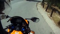 Motorcyclist Nearly Hits Cyclist | Crazy Motorcycle Videos