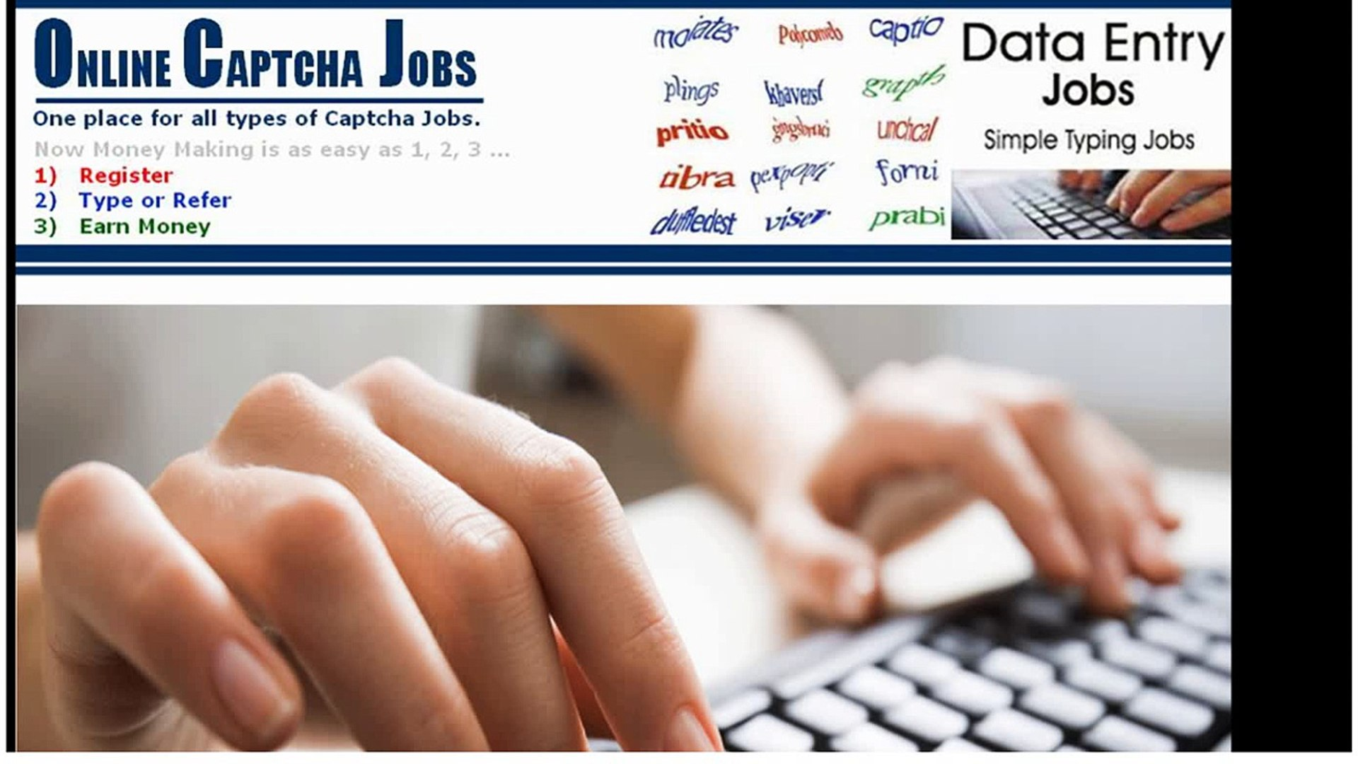 India's Captcha Entry Work at Home without investment