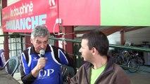 Interview Guy Burnat, président d'Aix-les-Bains, lors du match Aix-les-Bains contre CRO Lyon, Sport Boules, Aix 2015