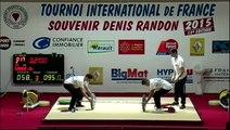 AS 3/3 Tournoi international haltérophilie Denis Randon 2015 13ème édition Clermont-l'Hérault (34)