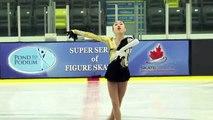 Sarah Tamura - Junior Women Free - 2016 Skate Canada BC/YK Sectional Championships