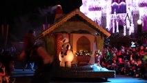 NEW Frozen Christmas parade floats with Anna, Elsa, Olaf, Kristoff at Walt Disney World