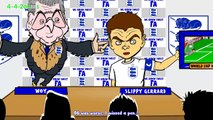 STEVEN GERRARD RETIREMENT by 442oons (Gerrard England Gerrard retires football cartoon)