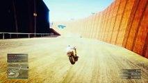 92845 MOTOS Y PAREDES GIGANTES!! - Gameplay GTA 5 Online Funny Moments (Carrera GTA V PS4)