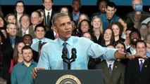 Barack Obama American USA President Funny Singing reprend Uptown Funk Mode Amazing Video 2015