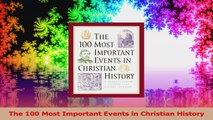 The 100 Most Important Events in Christian History Ebook Free
