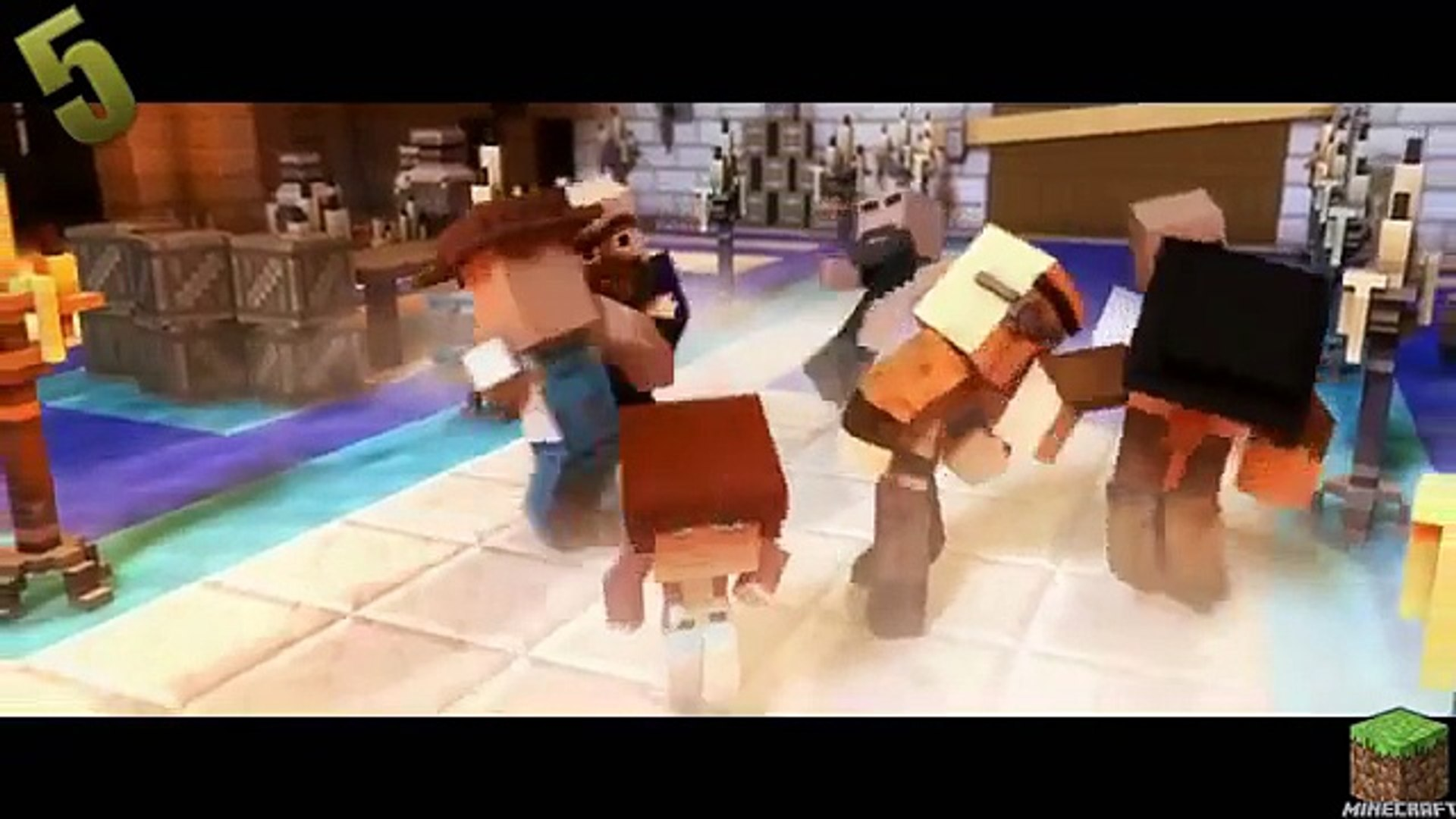 Top 5 Minecraft Song Parody July 2015 - Minecraft Songs Funny Animations Parodies