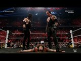 The Undertaker & Kane VS Wyatt family Full Fight - WWE Raw 11/9/15 HD