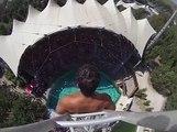 25 Metre Yükseklikten 100 km Hızla Havuza Atlamak - Komik videolar - Funny videos