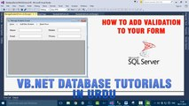 P(6) VB.NET Database Tutorial In Urdu - How to add validation to your form