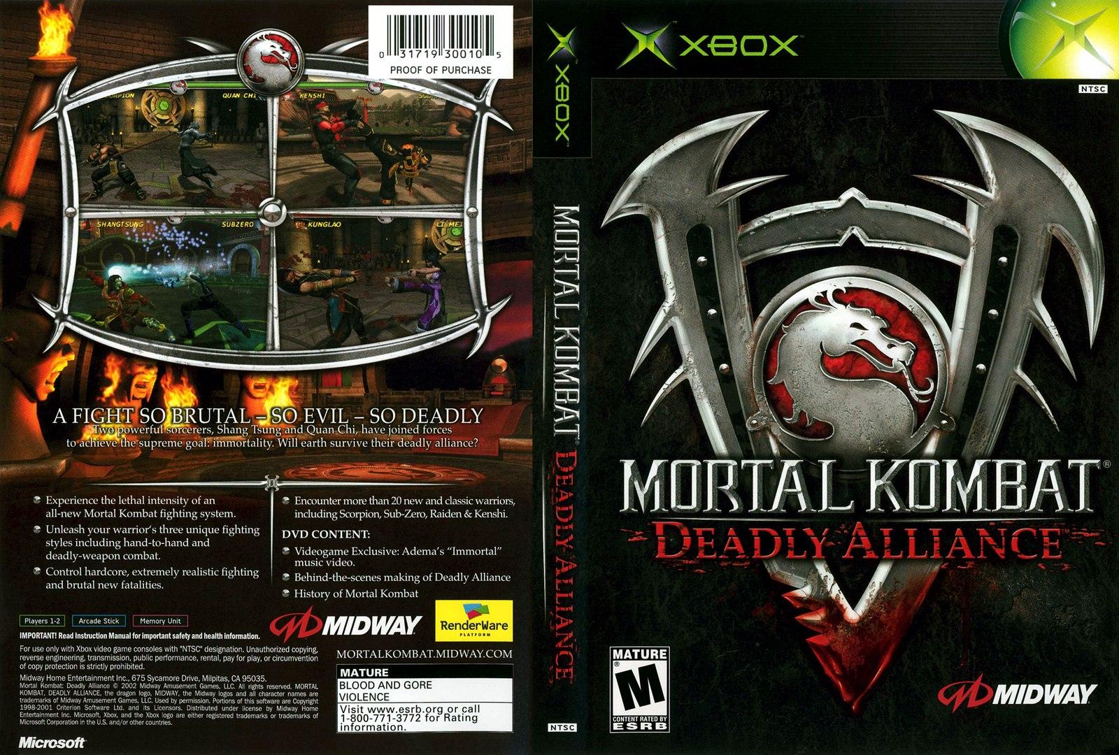 Mortal Kombat games - Mortal Kombat: Deadly Alliance and Mortal Kombat:  Tournament Edition