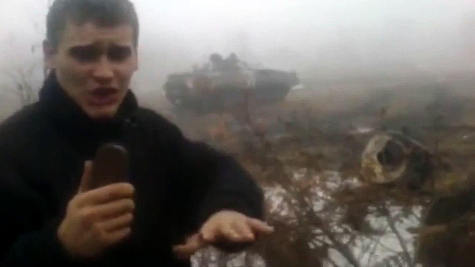 Бухие солдаты ВСУ учатся водить БМП 2. Новороссия новости.
