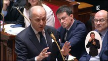 Le lapsus de Laurent Fabius à propos du député LR Claude Goasguen