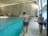 Bande delire plongeon piscine