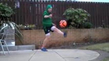 St. Patricks Day freestyle soccer training
