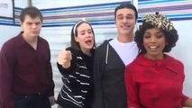 American Horror Story : Backstage (Evan Peters , Sarah Paulson , Finn Wittrock, Angela Basset)