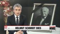 Former German Chancellor Helmut Schmidt dies at age 96
