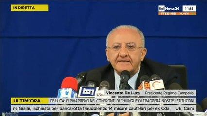 Conferenza Stampa De Luca sullo Scandalo della Scognamiglio