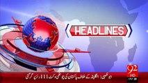 Headlines - 10:00 PM – 11 Nov 15 - 92 News HD