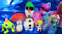 Play Doh Bubble Guppies Mermaid Molly Hair Salon Gil Bubble Puppy Olaf MLP LPS Toy Funny V