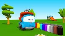 Leo Junior und die Farbkanone - Wir bemalen einen Apfelbaum | 3D Cartoon für Kinder