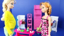 Disney Frozen Elsa Pregnant! Elsa Pregnancy Barbie Doll Parody Prince Felix and Twins