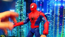 Spiderman Web Warriors Web Copter And Triple Attack Spider-man Toy Review and Parody