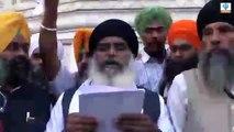 Sandesh to Khalsa Panth from Singh Sahib Jathedar Dhian Singh Mand.