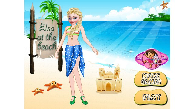 Beautifull Disney Princess Elsa Frozen Elsa At The Beach Movie Games For Kids NEW Video Fo