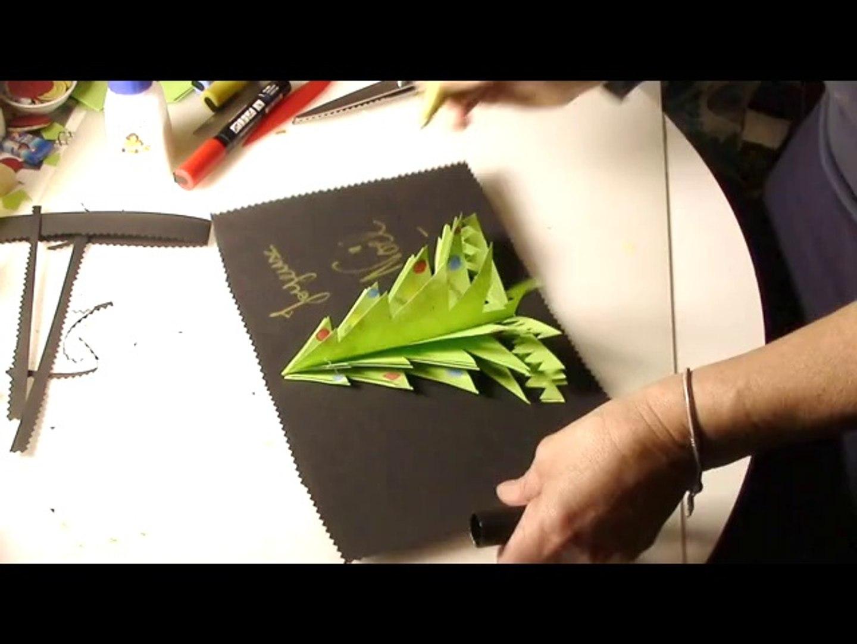Carte De Voeux 3D A Fabriquer carte de noel sapin 3d