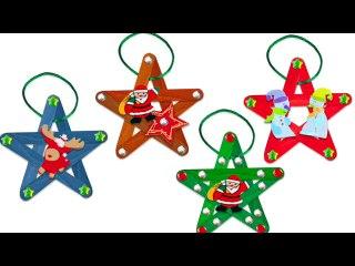 Etoiles de Noël en bâtons esquimaux