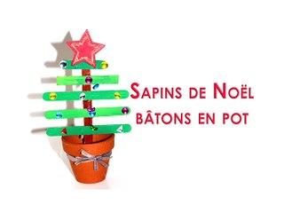 Sapin de Noël bâtons esquimaux en pot