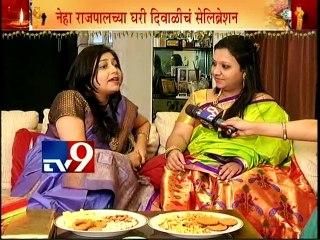 Neha Rajpal & Ashwini Shende's Diwali Celebration 2015 with TV9/Part1