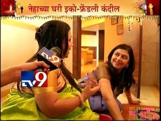 Neha Rajpal & Ashwini Shende's Diwali Celebration 2015 with TV9/Part2