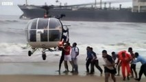 Cyclone Nilam Helicopter Rescue For Tanker Crew